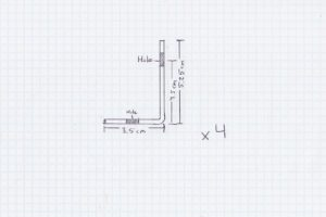 Schéma des pattes métalliques